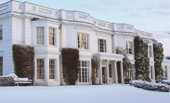A photo of Henley Business School main house in the snow