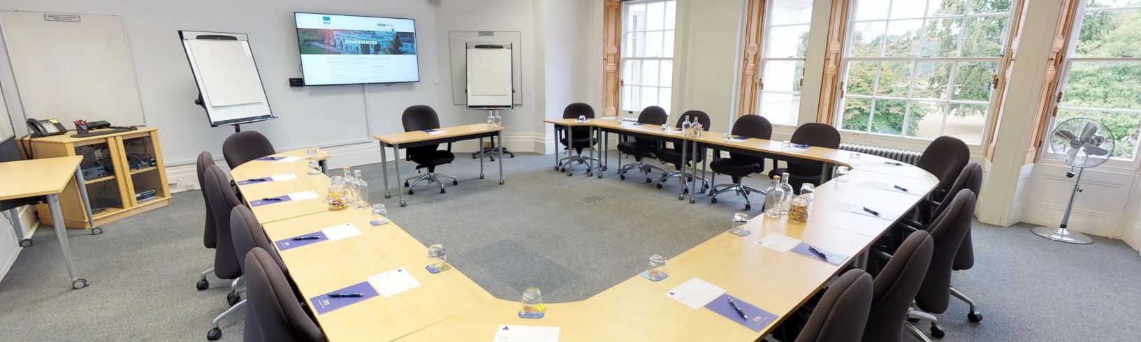 A photo of Henley Greenlands conference room setup